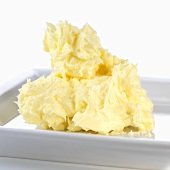 Soft butter on plate