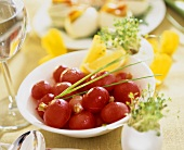 Radishes in butter with chives - for Easter