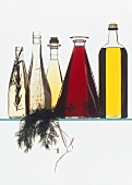 Various types of oil and vinegar