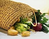 Fresh vegetables in a bag
