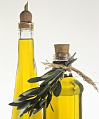Olive oil in two bottles