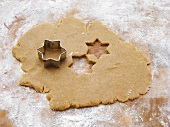 Biscuit dough with biscuit cutter
