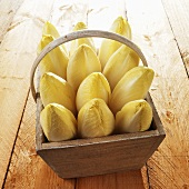 Chicory in a wooden basket