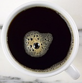 A cup of black coffee (from above)