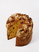 Panettone (Italian yeast cake for Christmas)