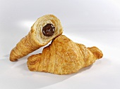 Croissant with chocolate filling