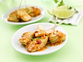 Caramelised chicken with lime (green background)