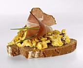 Scrambled egg with pumpkin seed oil (Austria)