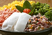 Risoto de frutos do mar com coco (Reisgericht mit gehackten Meeresfrüchten & Kokosnussmark, Brasilien)