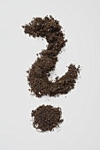 Soil forming a question mark