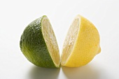 Half a lime and half a lemon