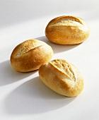 Three bread rolls
