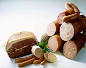 German sausage products