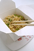Noodle dish in Asian lunch box