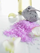 Purple bath salts