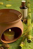 Aroma lamp with nutmeg oil