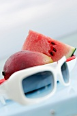 Mango, watermelon and sunglasses