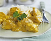 Indian chicken korma (Chicken in almond curry sauce)