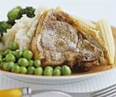 Pork chop with vegetables