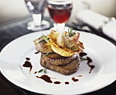 Beef fillet with crisp pastry shell