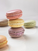 Coloured macarons (small French cakes)