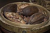 Cocoa fruits and cocoa beans