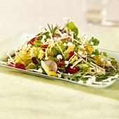 Mixed salad with enokitake mushrooms & balsamic vinaigrette