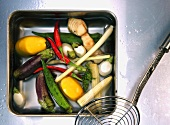Vegetables for Thai soup