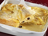 Baked pancakes filled with curd cheese