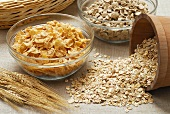 Cereals: cornflakes, rolled oats