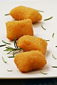 Potato croquettes with rosemary (close-up)