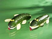 Two cucumber crocodiles