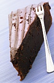 A piece of mud cake (Chocolate cake, USA)