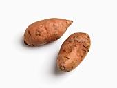Two sweet potatoes