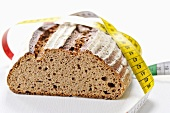 Brown bread and a tape measure