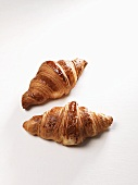 Two butter croissants