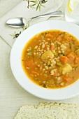 Bowl of Tuscan White Bean Stew