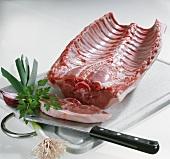 Saddle of suckling pig