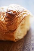 Croissant, bitten (close up)