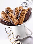 Silesian 'pepper nut' biscuits with chocolate glaze
