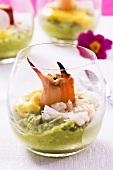 Guacamole with crab