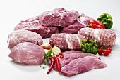 Various cuts of pork