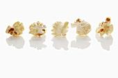 A row of popcorn