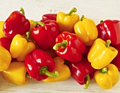 Mixed Yellow and Red Bell Peppers