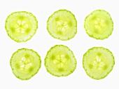 Six cucumber slices