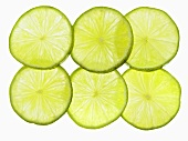Six lime slices