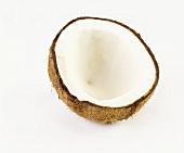 Eine halbe Kokosnuss
