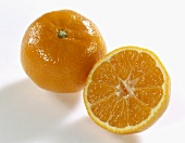 One whole and one half clementine