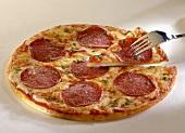 Pizza al salame (Salamipizza), Kampanien, Italien