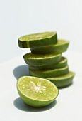 Slices of lime, in a pile